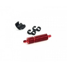 Fuel cooler red (incl.holder & 2x clips)