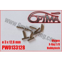 Ø3x12,8 mm PINS REPLACEMENT (10) SERPENT/ MUGEN /XRAY/HB