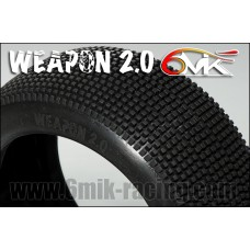 WEAPON 2.0 15/25 TYRES ON WHITE/ULTRA (PAIR GLUED)