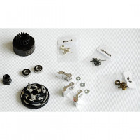 Alpha Plus Alpha Clutch Combo Set (15T Vented Clutch Bell +Bearing 5*10 ( 2pcs) + 34 mm Flywheel(Black) + 3pc Type cluth shoe (Alum) with 3 different springs and washers + Clutch Nut