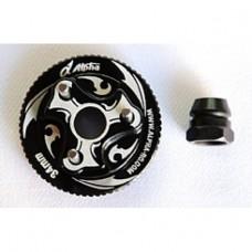 Alpha Plus Alpha Flywheel 34mm (black) + clutch nut E60-BUB2134