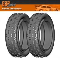 GRP GN10B 1:10 Buggy 2WD BULDOG B Medium Donut Tires NO Insert (2) : Front