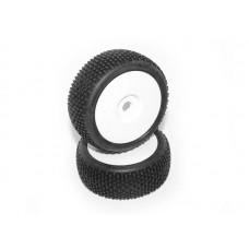 HB RACING HB KHAOS Mounted Tire (Red/White Wheel/ 1/8 Buggy/2pcs)
