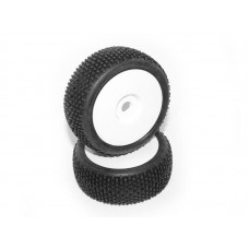 HB RACING HB KHAOS Mounted Tire (White/White Wheel/ 1/8 Buggy)