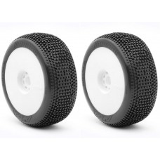 AKA 14007XRW - Impact - SOFT - LONG WEAR - 1:8 Buggy Pre-Mounted Tires (2 pcs)